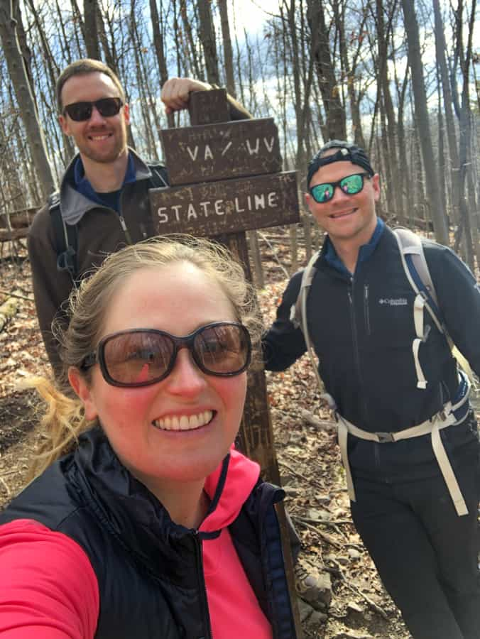 hiking into west virginia on raven rocks trail