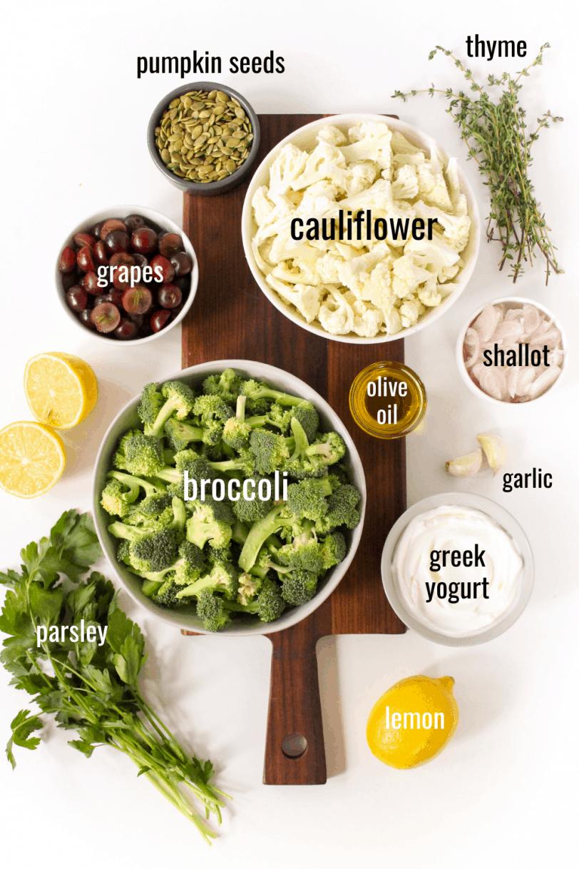 broccoli cauliflower salad ingredients