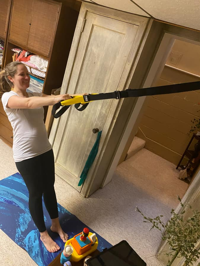TRX workout at 17 weeks pregnant