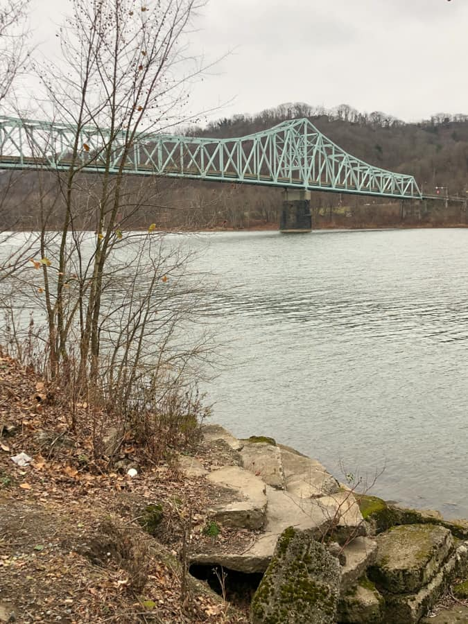 view of sewickley bridge from sewickley