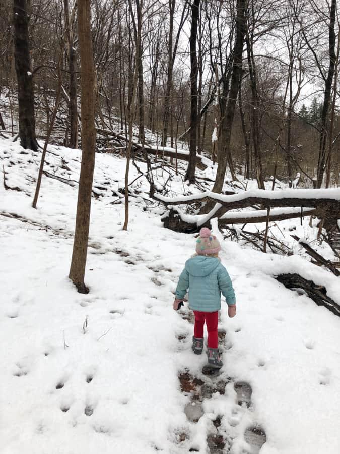 snowy hike