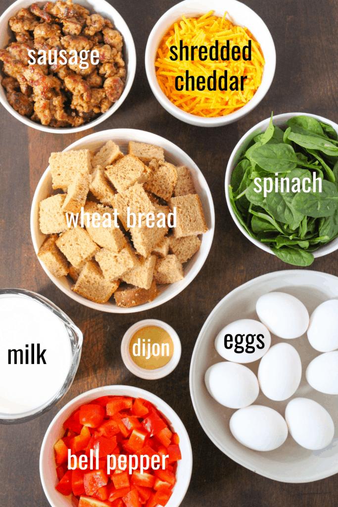 sausage egg casserole ingredients