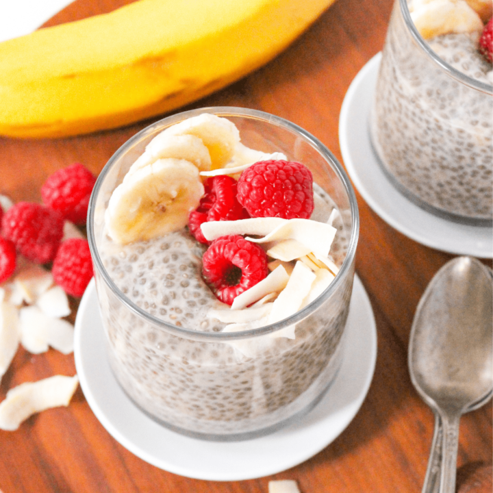 Coconut Banana Chia Pudding