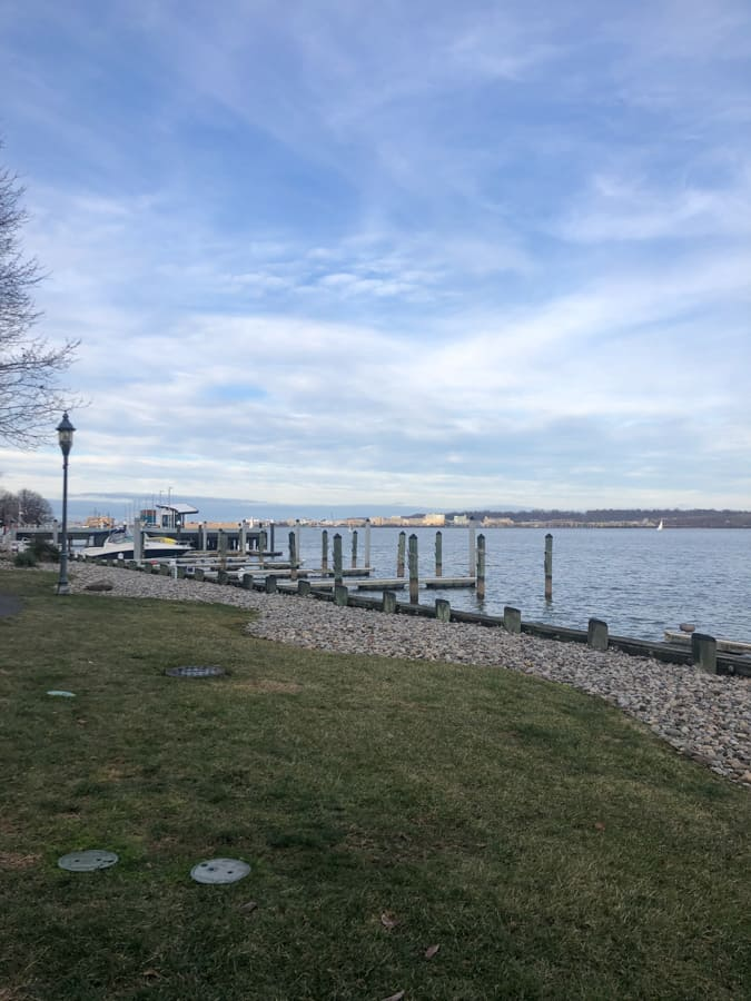 view of the water in old town alexandria
