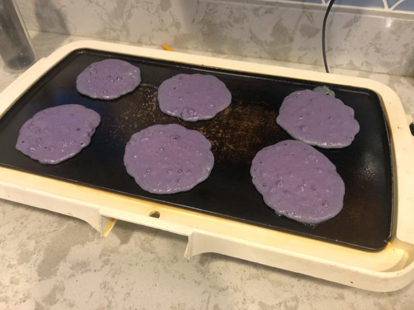 how to make purple pancakes naturally