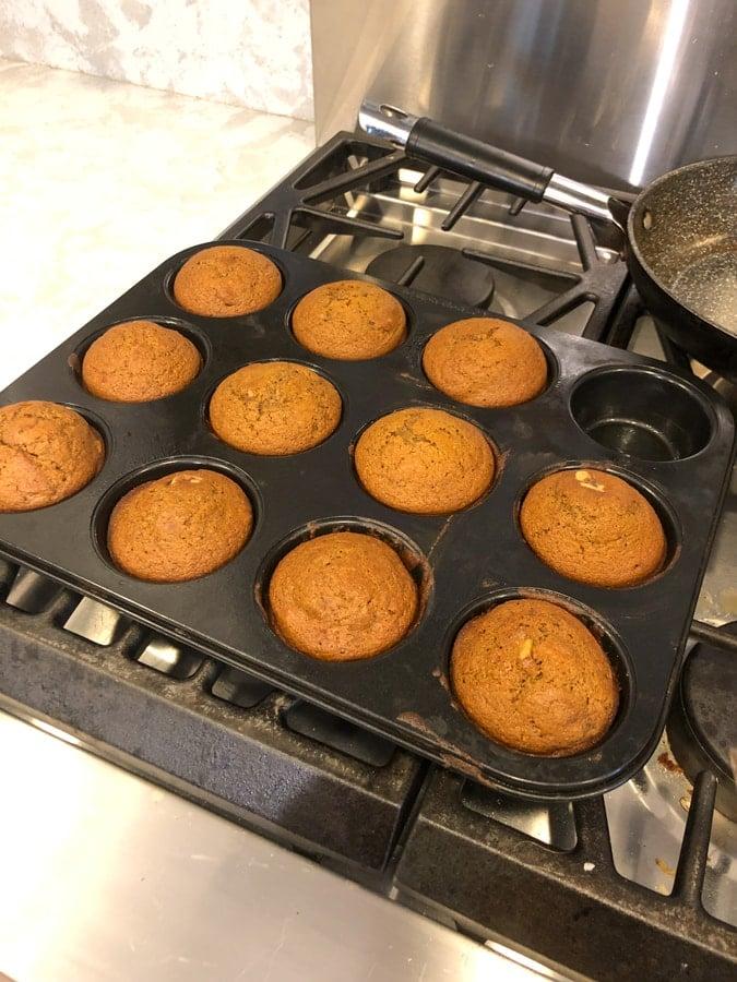 pumpkin muffins with walnuts