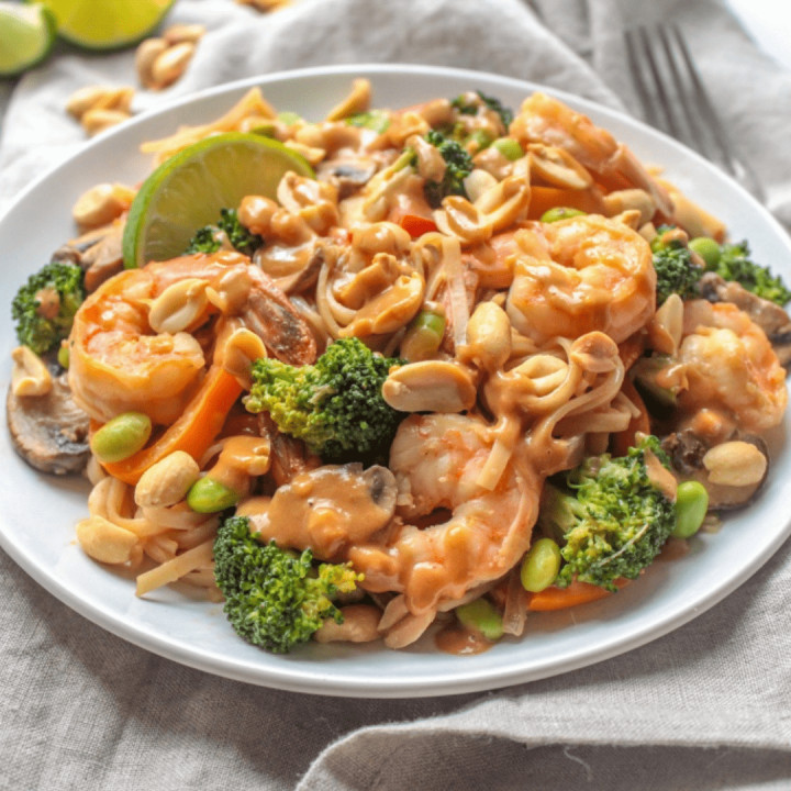 Peanut Sauce Stir Fry with Shrimp