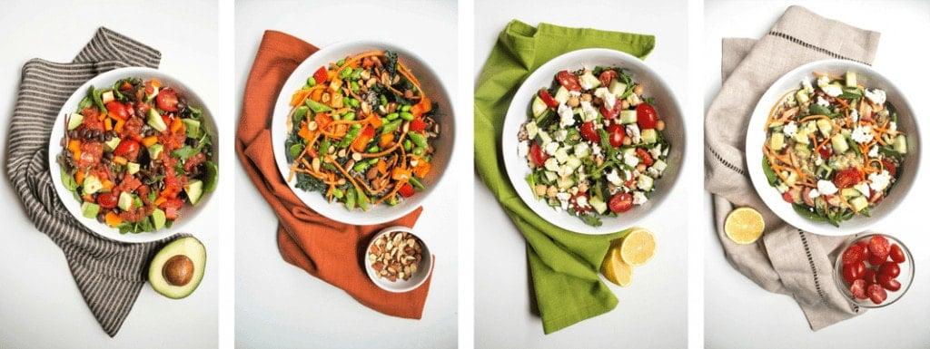 mix and match grain salad bowls
