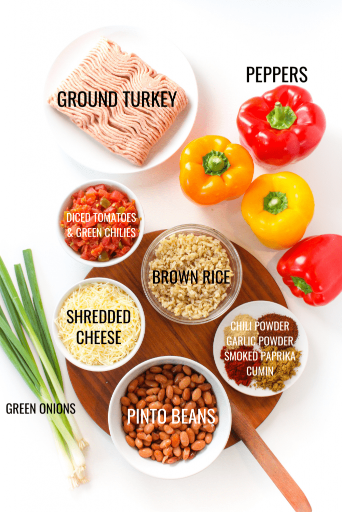 Instant Pot stuffed peppers ingredients