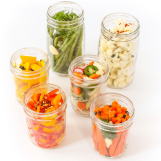 lacto-fermentation guide: fermented vegetables in mason jars