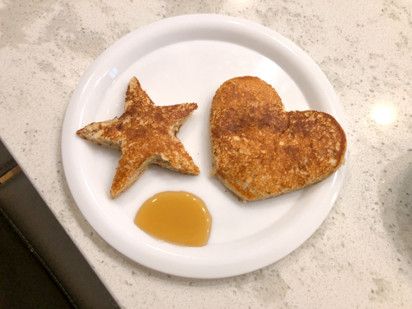 star and heart shaped pancakes