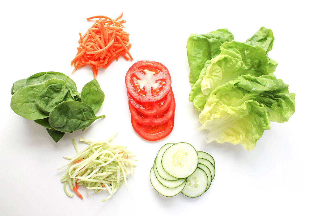 vegetables for sandwich wraps