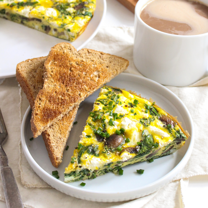 Goat Cheese Frittata with Spinach