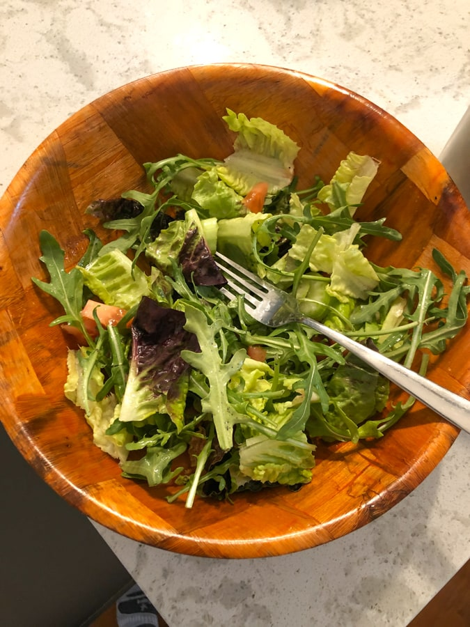 homemade salad with celery