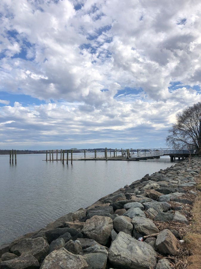 view of the potomac river from old town alexandria