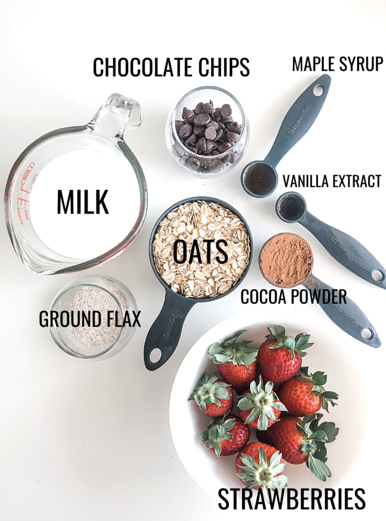 strawberry chocolate oatmeal ingredients