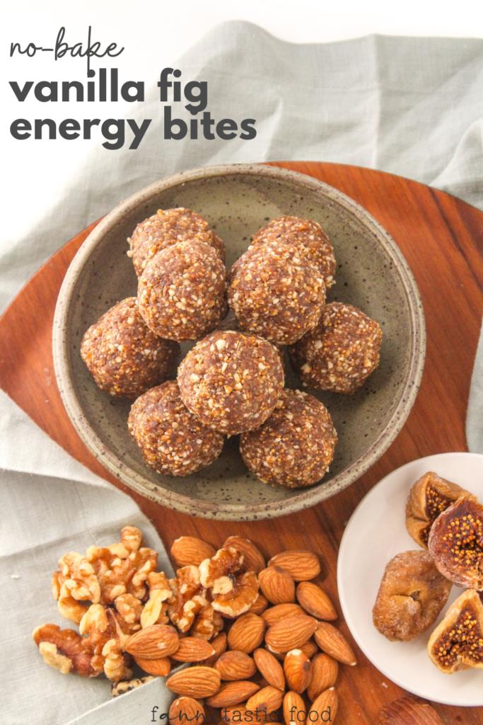 vanilla protein balls with figs