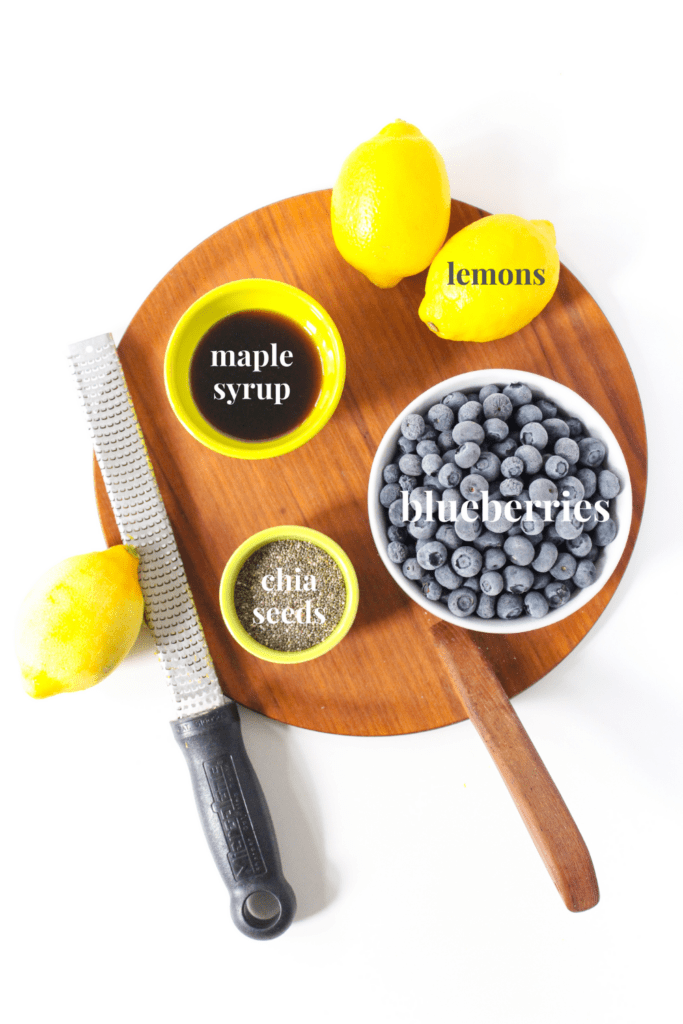 blueberry chia jam ingredients