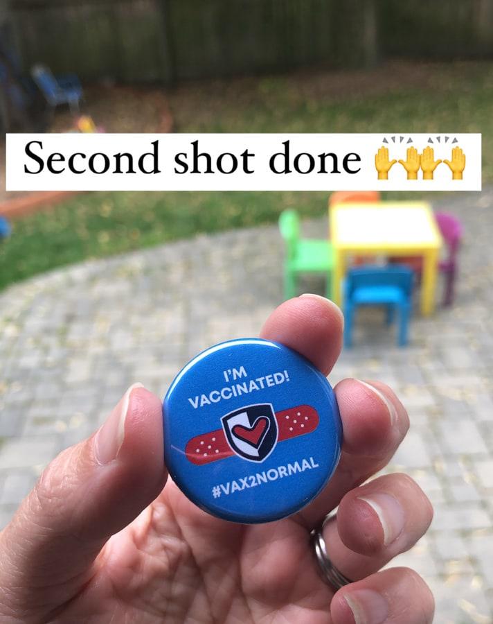 vaccinated pin