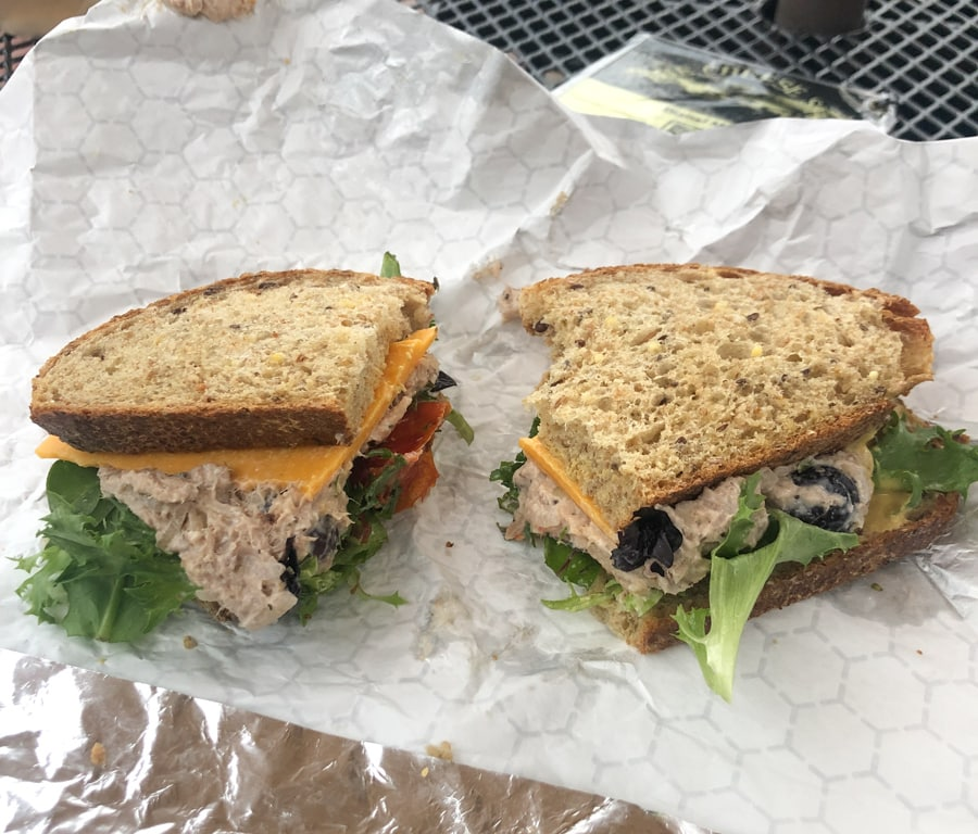 tuna sandwich from The Cheese Shop in Williamsburg