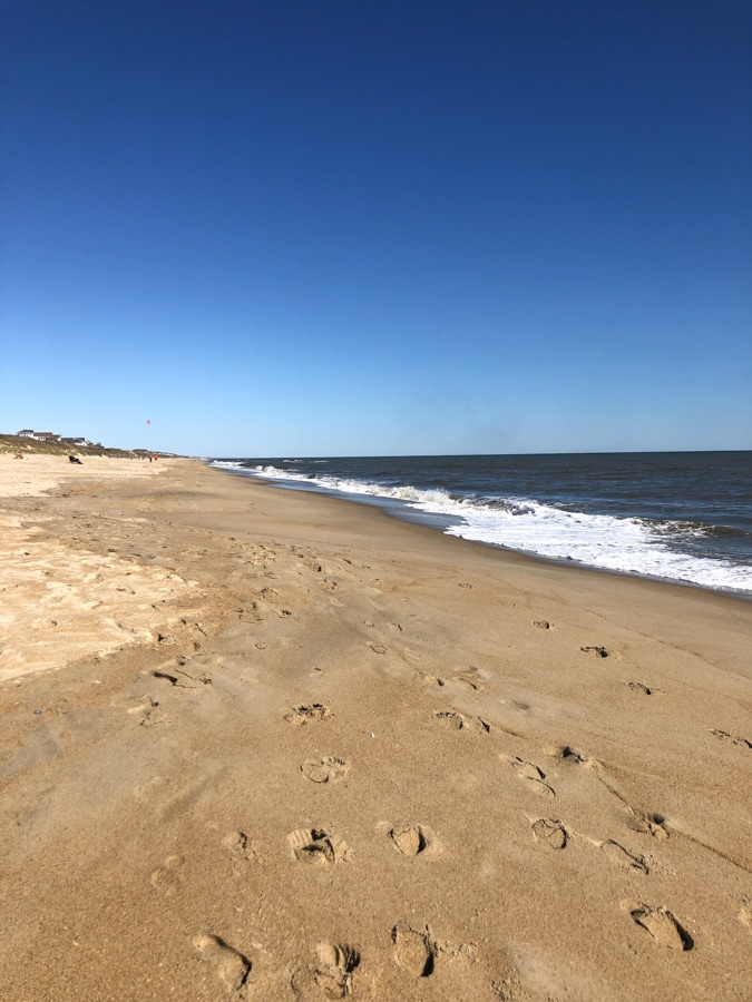 deserted beach in duck NC
