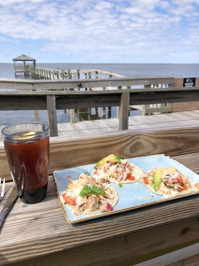 fish tacos at NC coast in duck NC