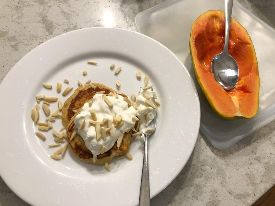 more pancakes plus papaya