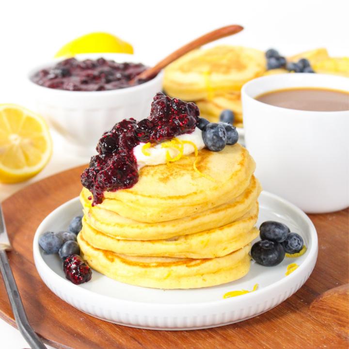 Lemon Pancakes with Ricotta