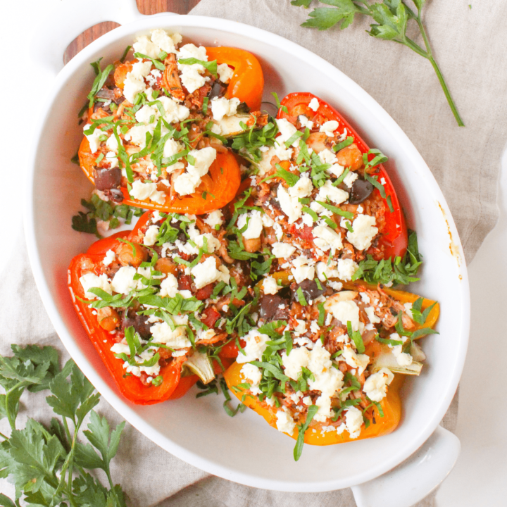 Mediterranean Stuffed Peppers with Chicken