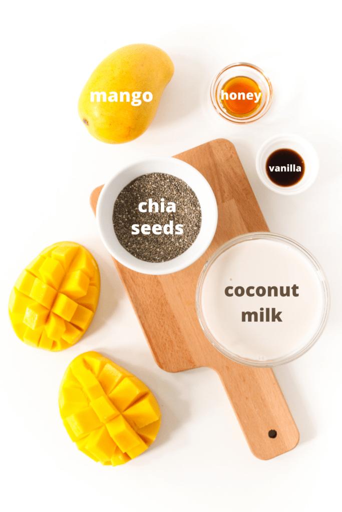 mango chia pudding ingredients