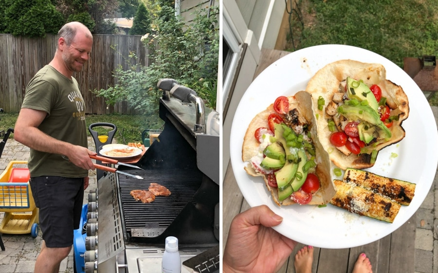 grilling with blue apron