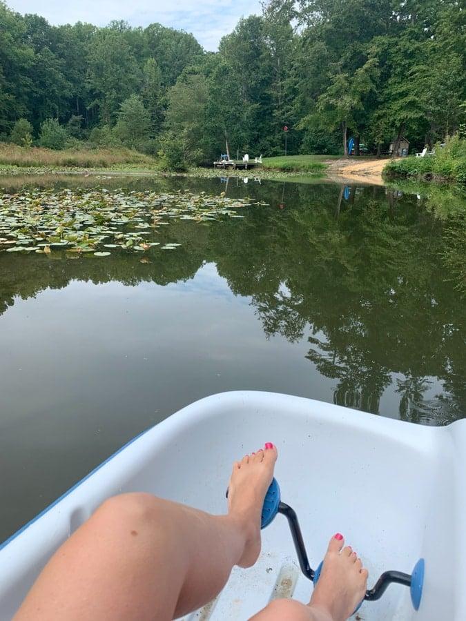 paddleboat at lake anna