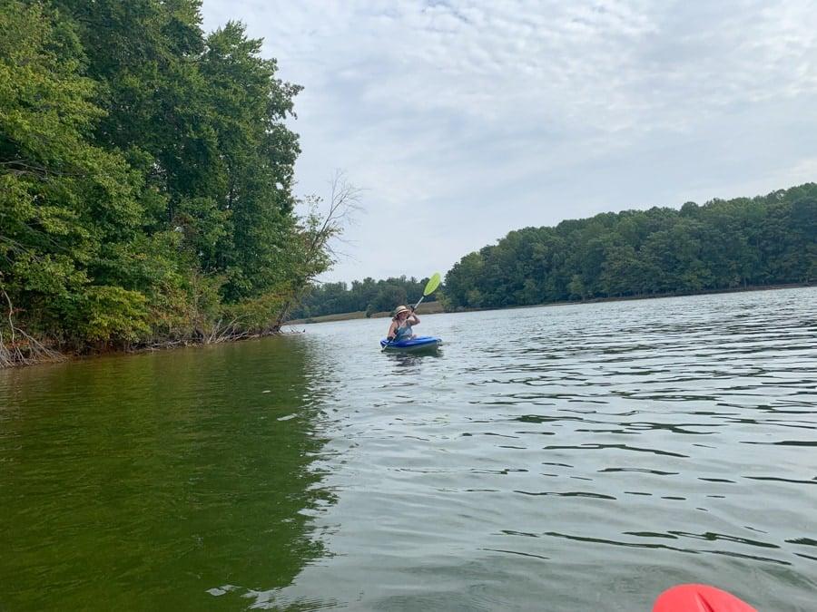 kayaking at lake anna