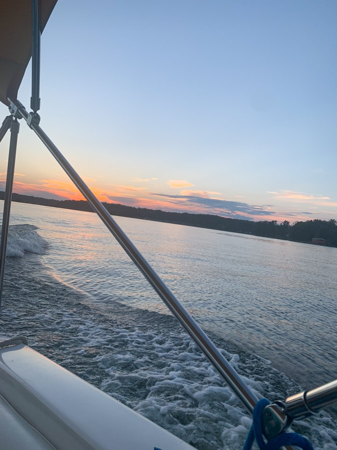lake anna sunset from a boat